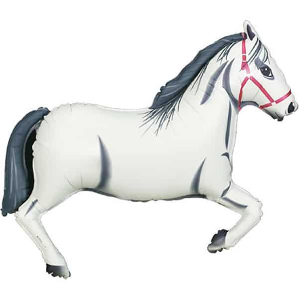 Hvid Hest Kæmpe Folieballon - Single