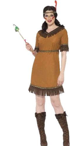 Wild West Indianer Kvinde Kostume Voksen - Small