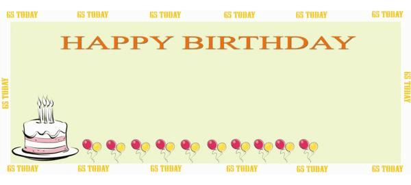 65 års Fødselsdag Bannere med Egen Tekst