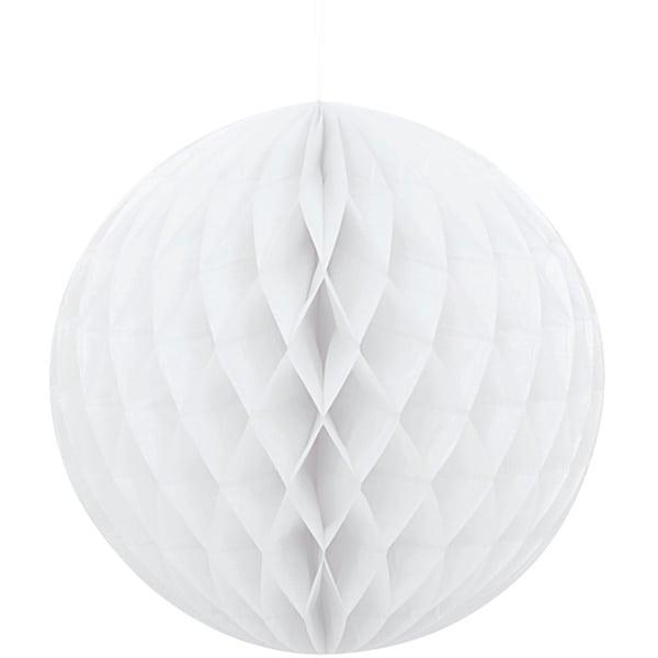 Hvid Vaffelmønster Kugle Dekoration - Single