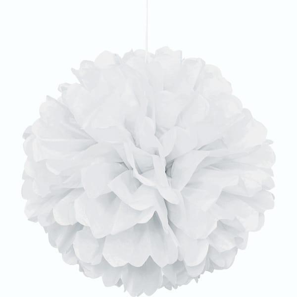 Hvid Vaffelmønster Kvast Dekoration - Single