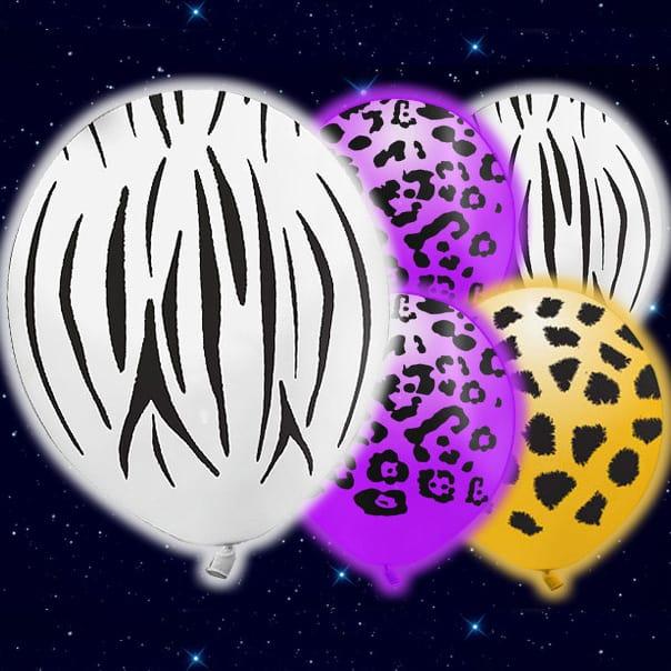 Selvlysende Vilde Dyr Illoom Ballon - Pakke med 5