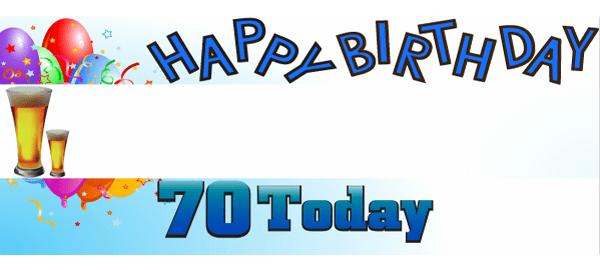 70 års Fødselsdag Bannere med Egen Tekst