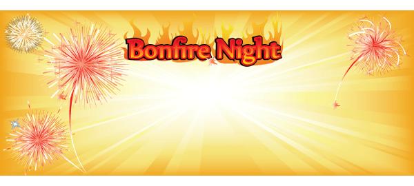 Bonfire Night Bannere med Egen Tekst