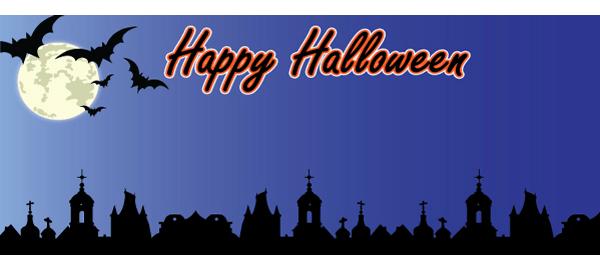 Halloween Bannere med Egen Tekst
