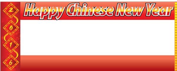 Kinesisk Nytår Bannere med Egen Tekst