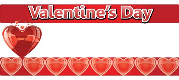 Valentinsdag Bannere