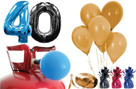Voksen Fødselsdag Helium og Balloner Pakker
