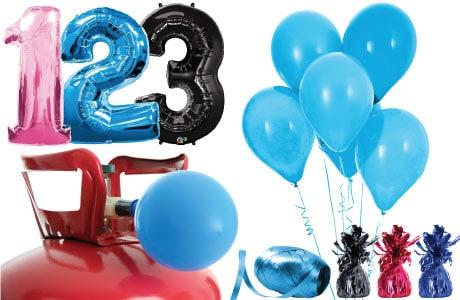 Børne Fødselsdag Helium og Ballon Pakker