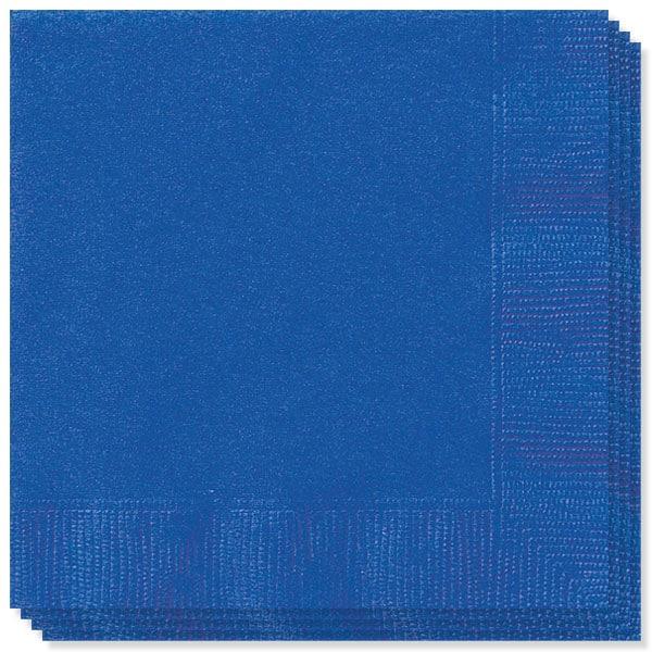 Mørkeblå Servietter 33 cm - Pakke med 20