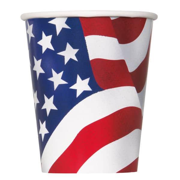Amerika Flag Pap Kop 26 cl - Single