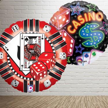 Casino Tema Balloner og Tilbehør