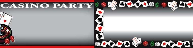 Casino Poker Vegas Bannere med Egen Tekst