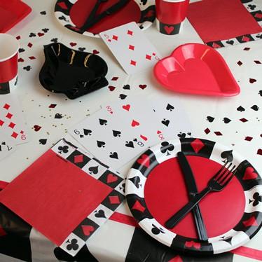 Casino Poker Tema Borddækning