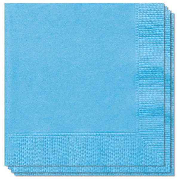 Blå Servietter - Pakke med 20