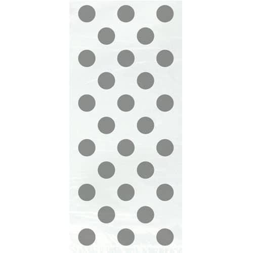 Sølv med Prikker Cellofan Pose - Pakke med 20