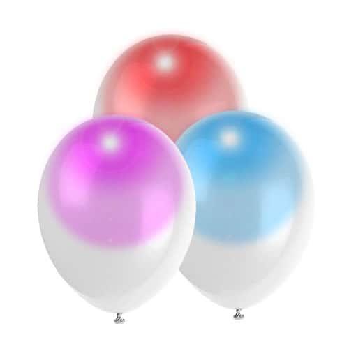 Selvlysende Magic Glow Light Ballon - Pakke med 3