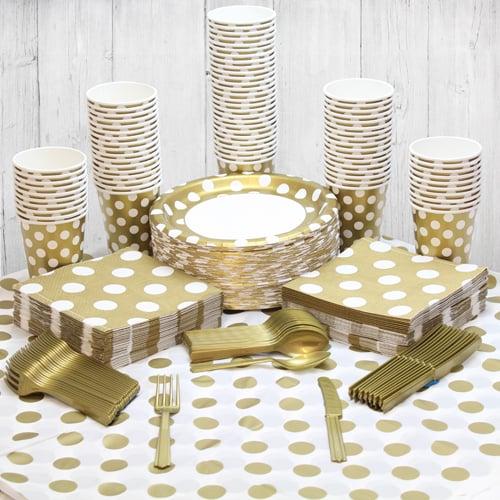 Guld med Prikker Festpakke til 8 Personer