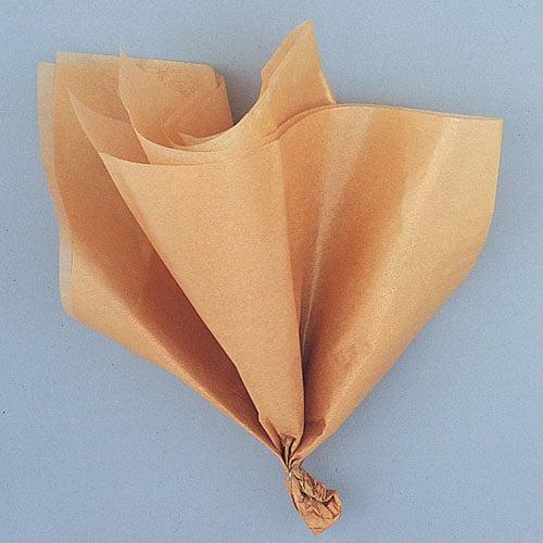 Metallic Guld Silkepapir - Pakke med 5