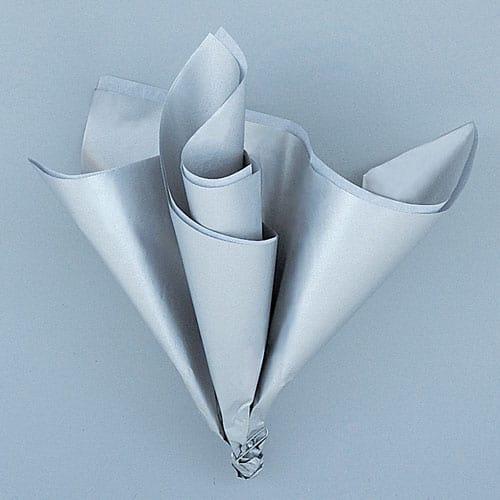 Metallic Sølv Silkepapir- Pakke med 5