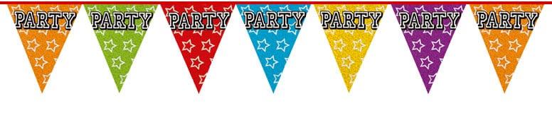 Holografisk Party Vimpel Guirlande - Single
