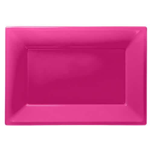 Pink Firkantet Fad – Pakke med 3