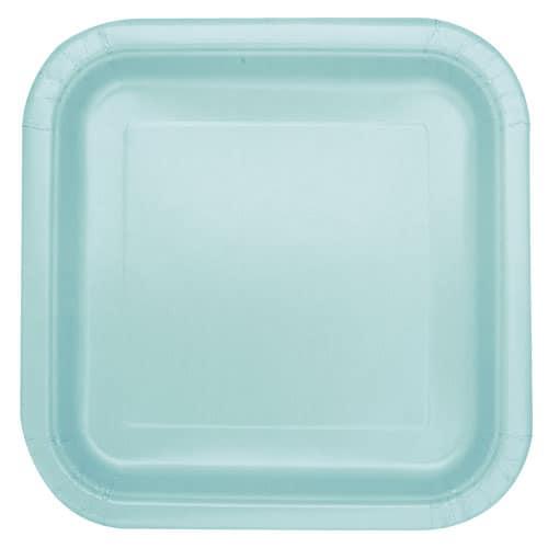 Mint Firkantet Paptallerken 22 cm - Single