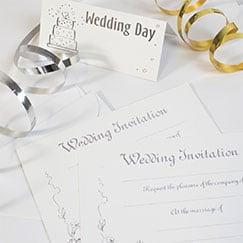 Bryllup Tema Papirvarer