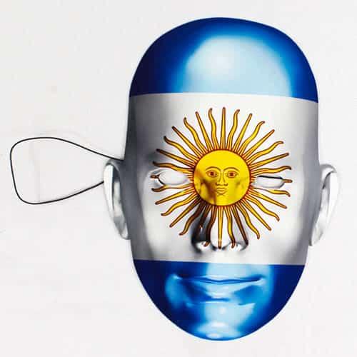 Argentina Flag Pap Ansigtsmaske - Single