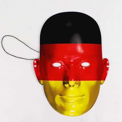 Tyskland Flag Pap Ansigtsmaske - Single