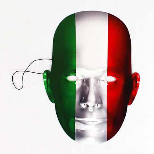 Italien Flag Pap Ansigtsmaske - Single
