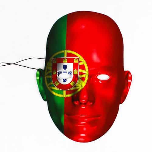 Portugal Flag Pap Ansigtsmaske - Single