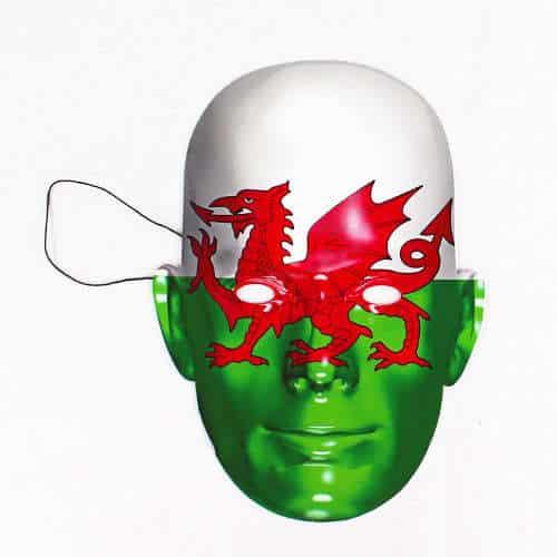 Wales Flag Pap Ansigtsmaske - Single