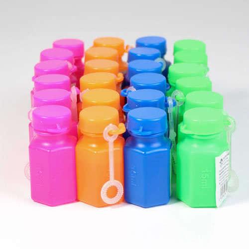 Farverige Sæbebobler - Pakke med 24 Assorterede