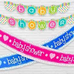 Baby Shower Bannere