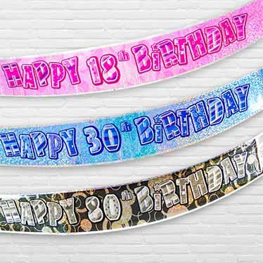 Bannere til Runde og Milestens Fødselsdage