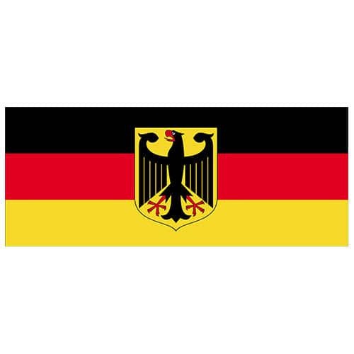 Tyskland Flag Vinyl Vægdekoration 60 x 24 cm - Single