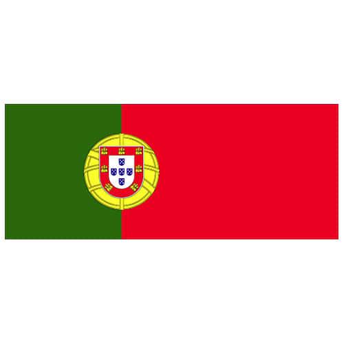 Portugal Flag Vinyl Vægdekoration 60 x 24 cm - Single