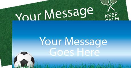 Sports Tema Bannere med Egen Tekst