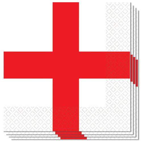 St George Flag Servietter 33 cm - Pakke med 16