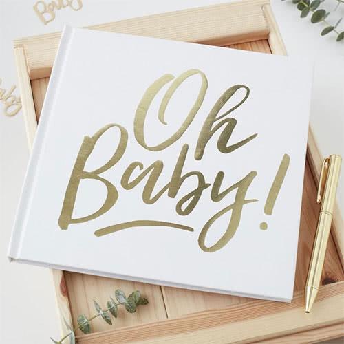 Oh Baby Guld Gæste Bog - Single