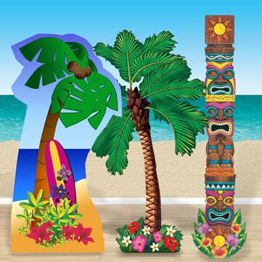 Hawaii Strandfest Papfigurer
