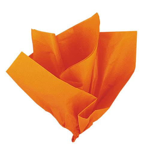 Orange Silkepapir - Pakke med 10