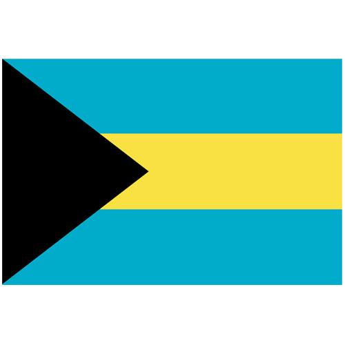 Bahamas Polyester Flag 1,5 m x 91 cm - Single