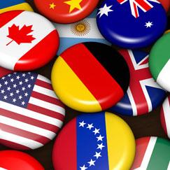 Internationale Flag Tema Festartikler