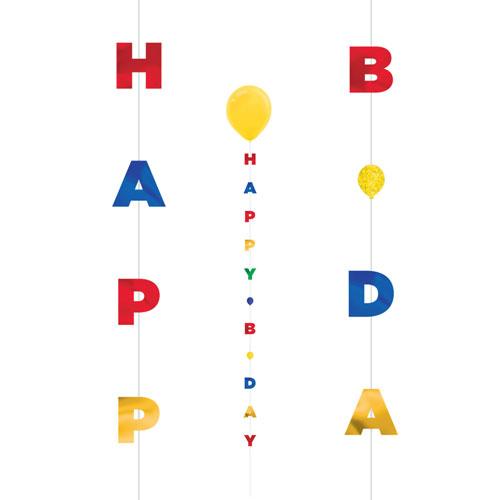Happy Birthday Bogstav Ballon Hale 182 cm - Single