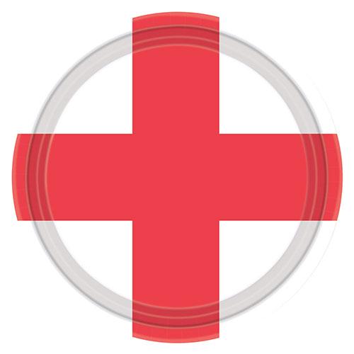 St Georges Flag Paptallerken 23 cm - Single