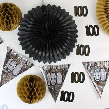 100 års Fødselsdag Dekorationer