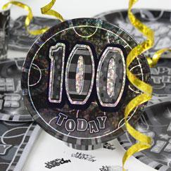 100 års Fødselsdag Fest Tilbehør