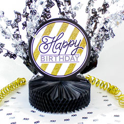100 års Fødselsdag Borddekorationer